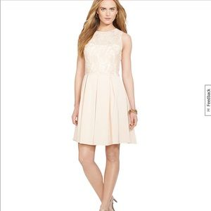 NWT Ralph Lauren Dress Peach Sequin 14 Wedding